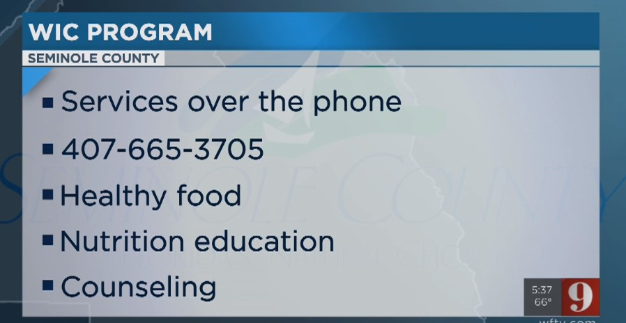 Seminole County WIC Customers Can Now Call To Get Aid
